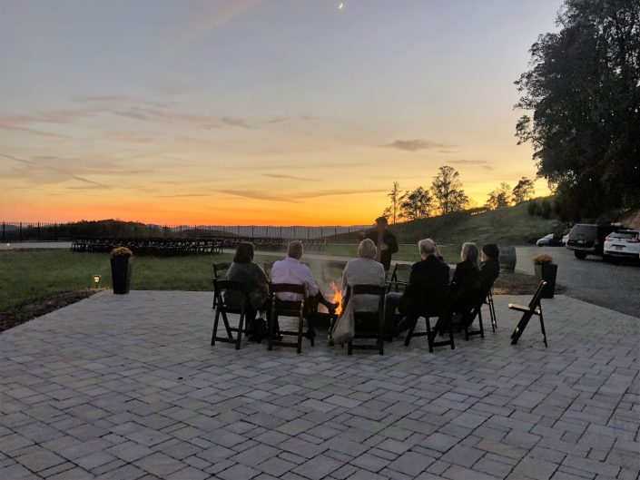 Point Lookout Vineyards Firepit