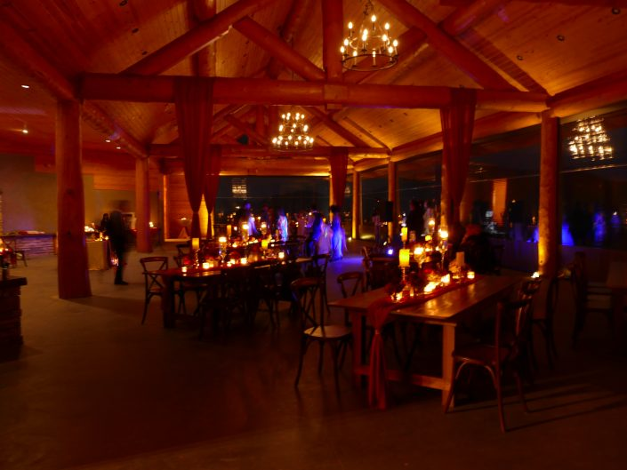 Point Lookout Vineyards Pavilion at Night
